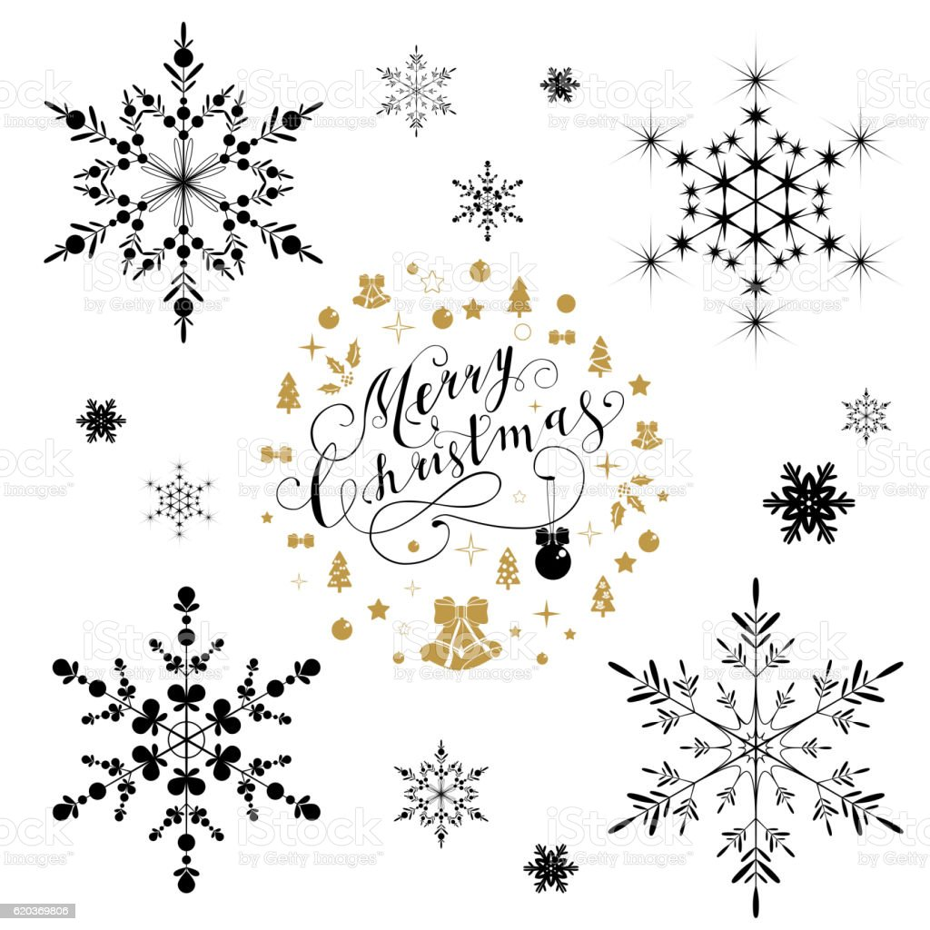 Beautiful snowflakes set for christmas beautiful snowflakes set for christmas - arte vetorial de stock e mais imagens de arte royalty-free