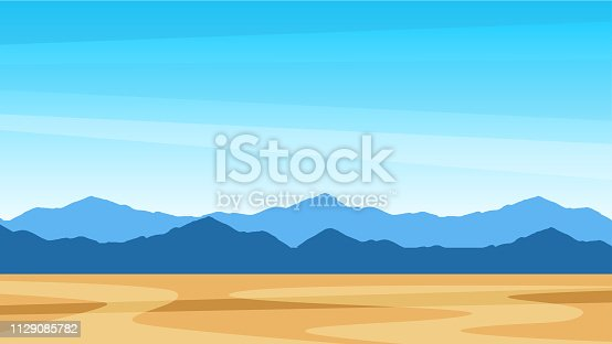 Beautiful southern scenic landscape with mountains - Southern view Texas