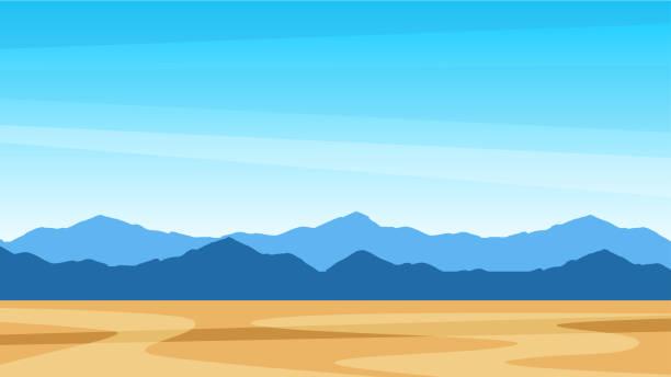 piękny południowy krajobraz krajobraz z górami. widok południowy teksas - horyzont stock illustrations