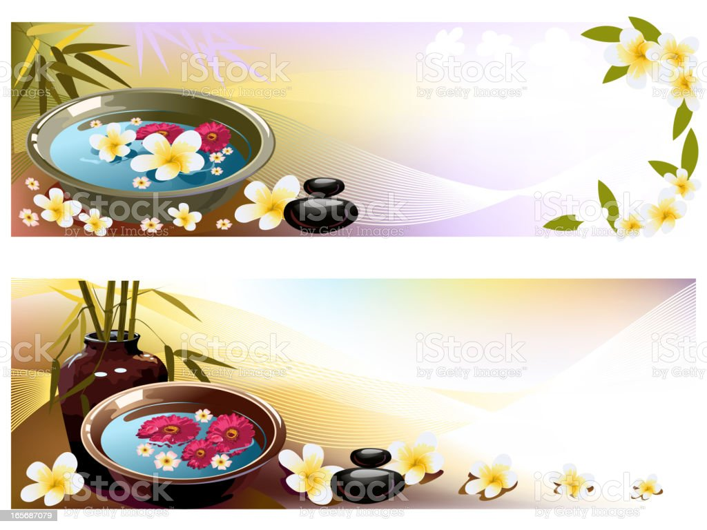 Beautiful Spa backgrounds/Banners royalty-free beautiful spa backgroundsbanners stock vector art & more images of alternative therapy
