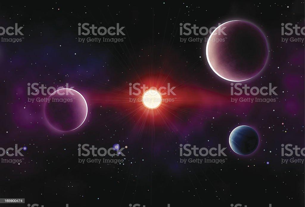 Hermoso espacio - ilustración de arte vectorial