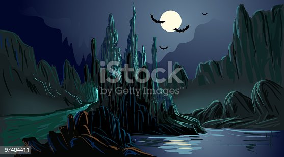 Self illustrated Beautiful Spooky Background, all elements are in separate layers, very easy to edit. Please visit my portfolio for more options. Please see more related images on these lightboxes: