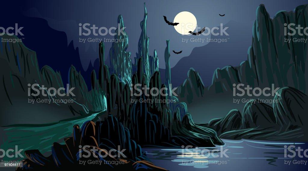 Beautiful Spooky Background vector art illustration