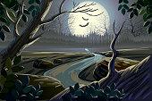 istock Beautiful spooky landscape 160195616