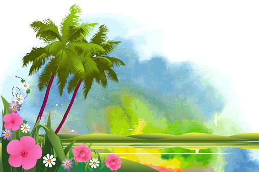 Beautiful Spring and Summer Background