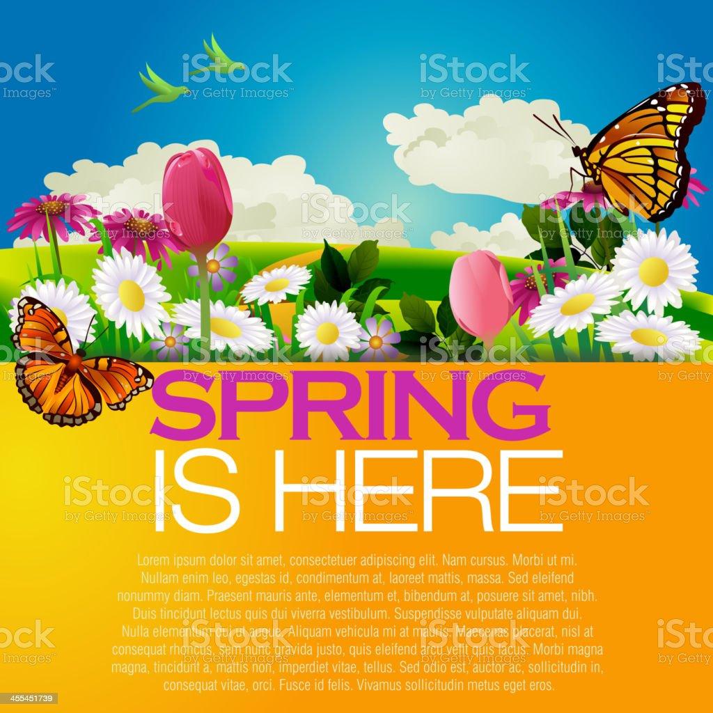 Beautiful Spring backgroun royalty-free stock vector art