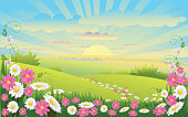 Self illustrated Beautiful Spring Background, all elements are in separate layers,very easy to edit.please visit my portfolio for more options. Please see more related images on these lightboxes: http://i1136.photobucket.com/albums/n483/Nagendra_art/easter.jpg?t=1291448607