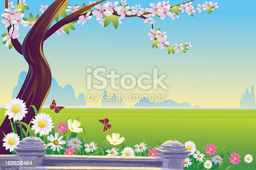 Self illustrated Beautiful spring background, all elements are in separate layers, very easy to edit. Please visit my portfolio for more options. Please see more related images on these lightboxes: http://i1136.photobucket.com/albums/n483/Nagendra_art/easter.jpg?t=1291448607