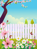 Self illustrated Beautiful Spring Background, all elements are in separate layers. no mesh or transparencies.Please visit my portfolio for more options.Please see more related images on these lightboxes: http://i1136.photobucket.com/albums/n483/Nagendra_art/easter.jpg?t=1291448607