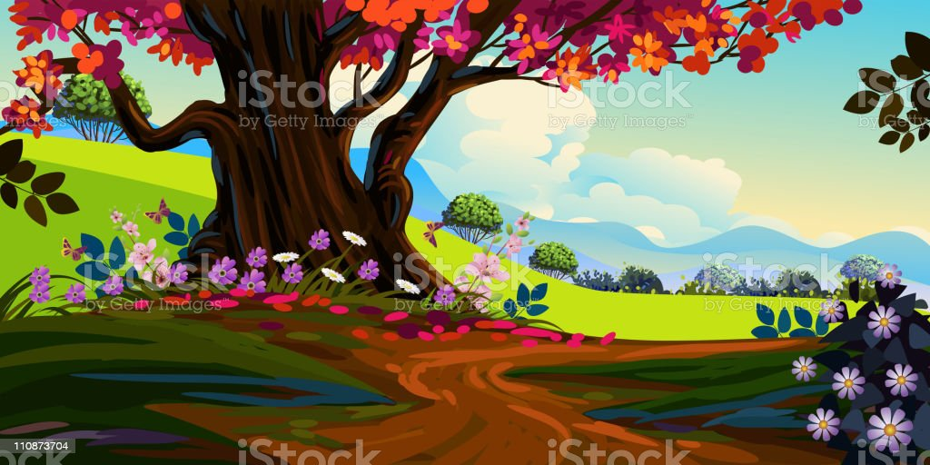 Beautiful Spring Landscape royalty-free beautiful spring landscape stock vector art & more images of art