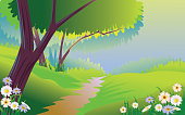 Self illustrated Beautiful spring Landscape, all elements are in separate layers, very easy to edit. Please visit my portfolio for more options. Please see more related images on these lightboxes: http://i1136.photobucket.com/albums/n483/Nagendra_art/easter.jpg?t=1291448607