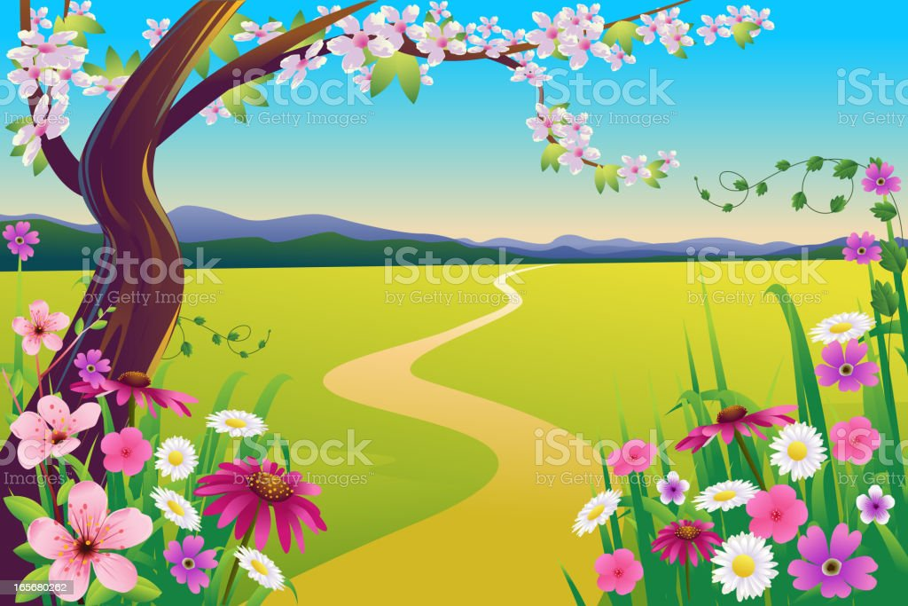 Beautiful Spring Landscape royalty-free stock vector art
