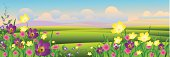 Self illustrated Beautiful Spring Landscape.Please see some similar pictures from my portfolio: