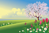 Self illustrated Beautiful Spring Morning,all elements are in separate layers,very easy to edit.please visit my portfolio for more options. Please see more related images on these lightboxes: http://i1136.photobucket.com/albums/n483/Nagendra_art/easter.jpg?t=1291448607