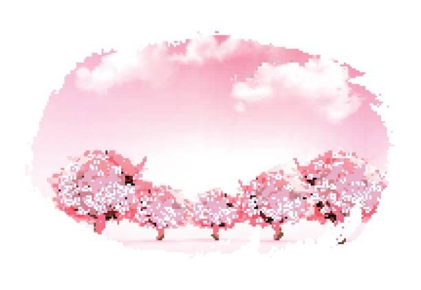 illustrazioni stock, clip art, cartoni animati e icone di tendenza di beautiful spring nature background with trees. vector. - capri