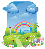 Self illustrated Beautiful Spring/Easter Background,all elements are in separate layers,very easy to edit.Please visit My portfolio for more options. Please see more related images on these lightboxes: http://i1136.photobucket.com/albums/n483/Nagendra_art/easter.jpg?t=1291448607