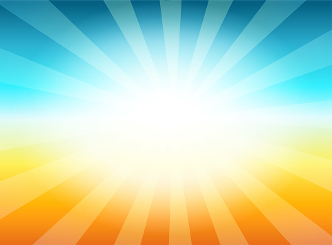 Beautiful Sun with Rays Television Vintage Background