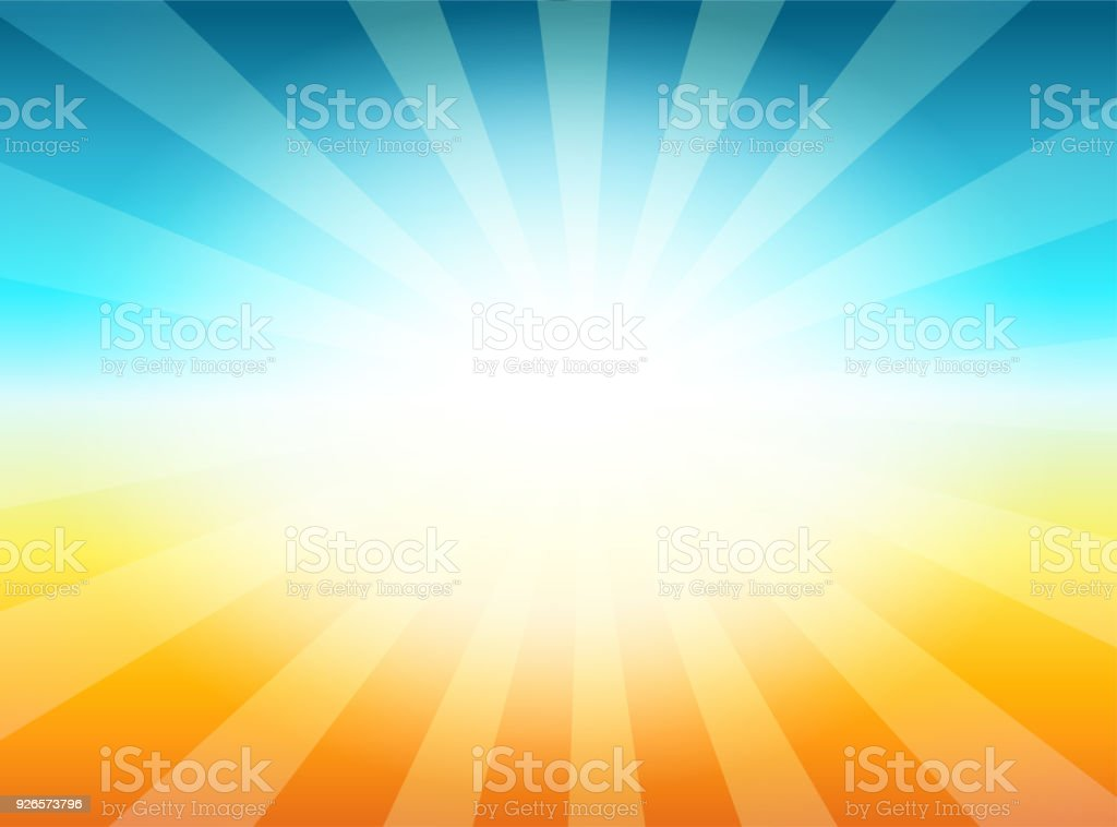 Beautiful Sun with Rays Television Vintage Background vector art illustration