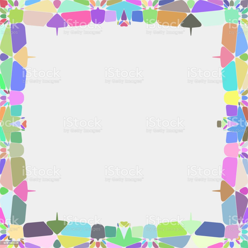 Beautiful textured textile frame pattern vector art illustration