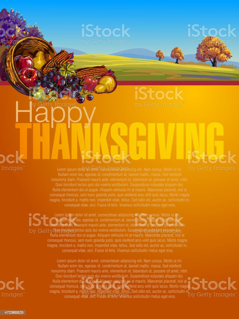 Beautiful Thanksgiving Background vector art illustration