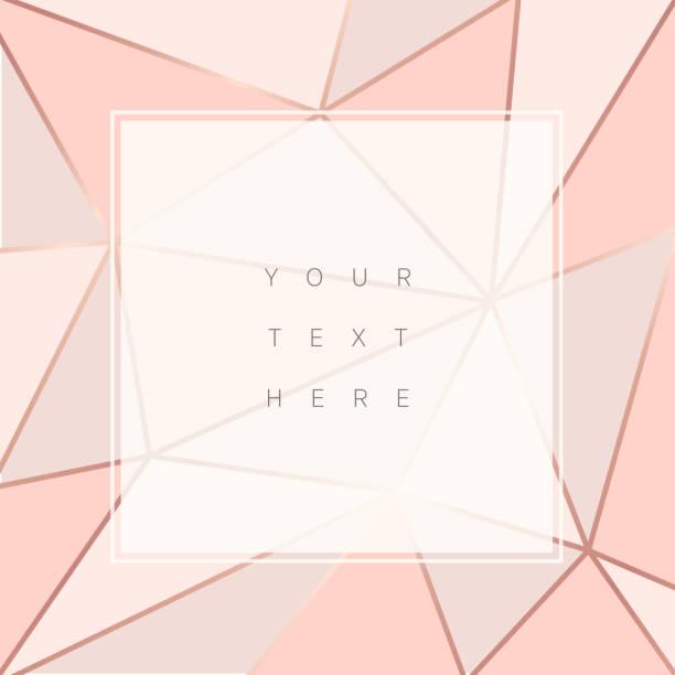 Beautiful trendy polygonal abstract background Beautiful trendy polygonal abstract background. Rose gold frames. Vector illustration diamond gemstone stock illustrations