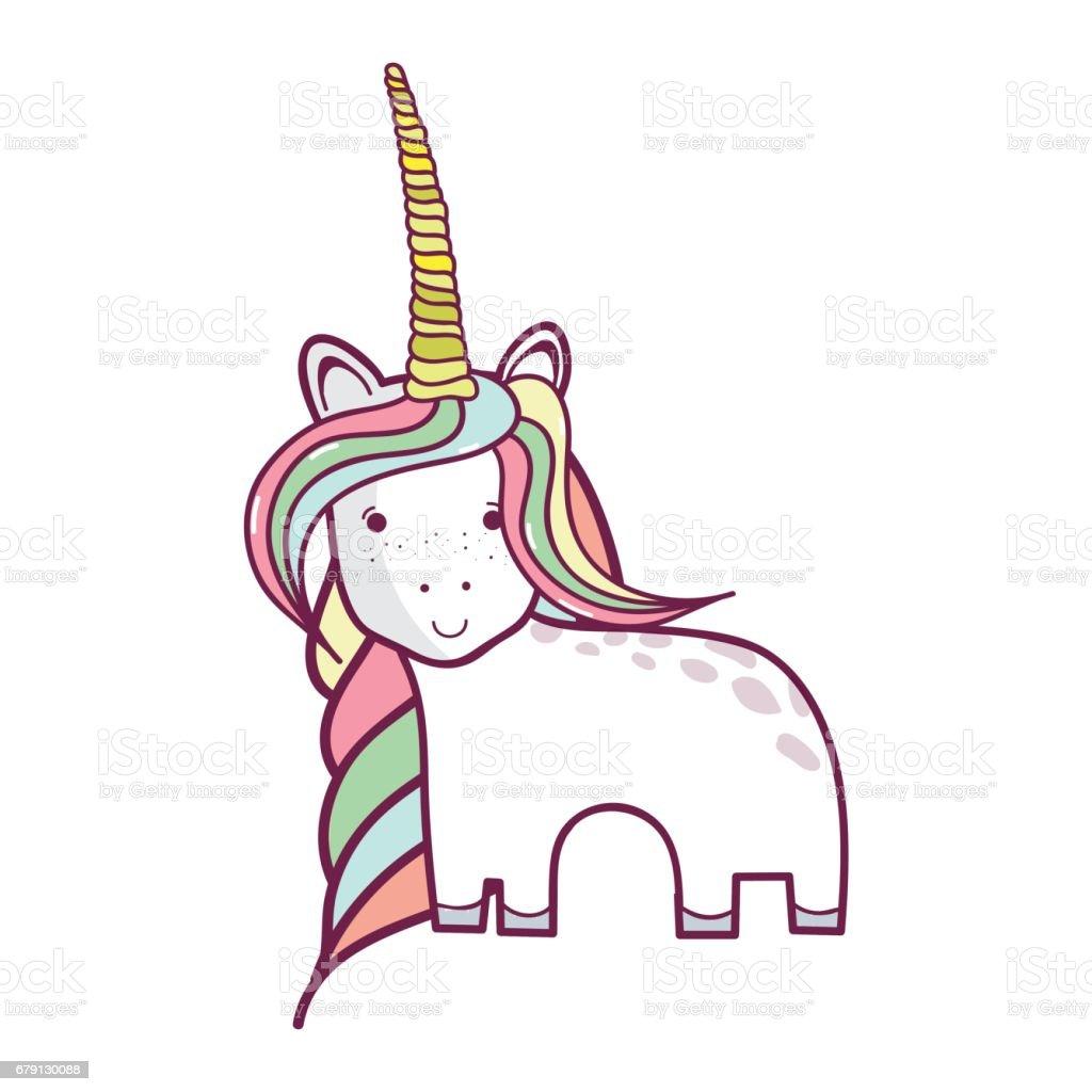 magnifique Licorne avec corne et longue crinière magnifique licorne avec corne et longue crinière – cliparts vectoriels et plus d'images de a la mode libre de droits