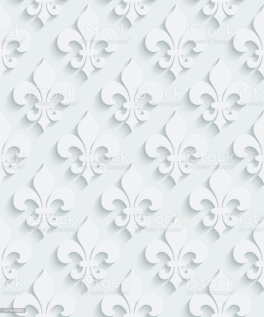 Beautiful Unique 3d Wallpaper Pattern Royalty Free Stock Vector Art