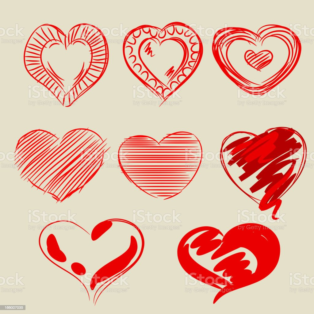 Beautiful Valentine's Day Design elements royalty-free stock vector art