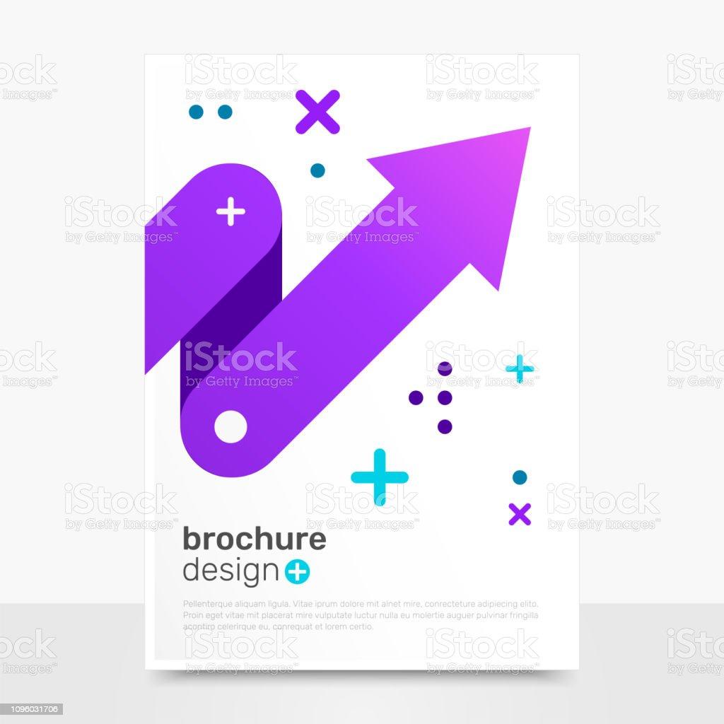 ef6a7cd553 Hermoso Vector diseño de folleto. Maqueta de Flyer de Vector de progreso.  Brochure Templates
