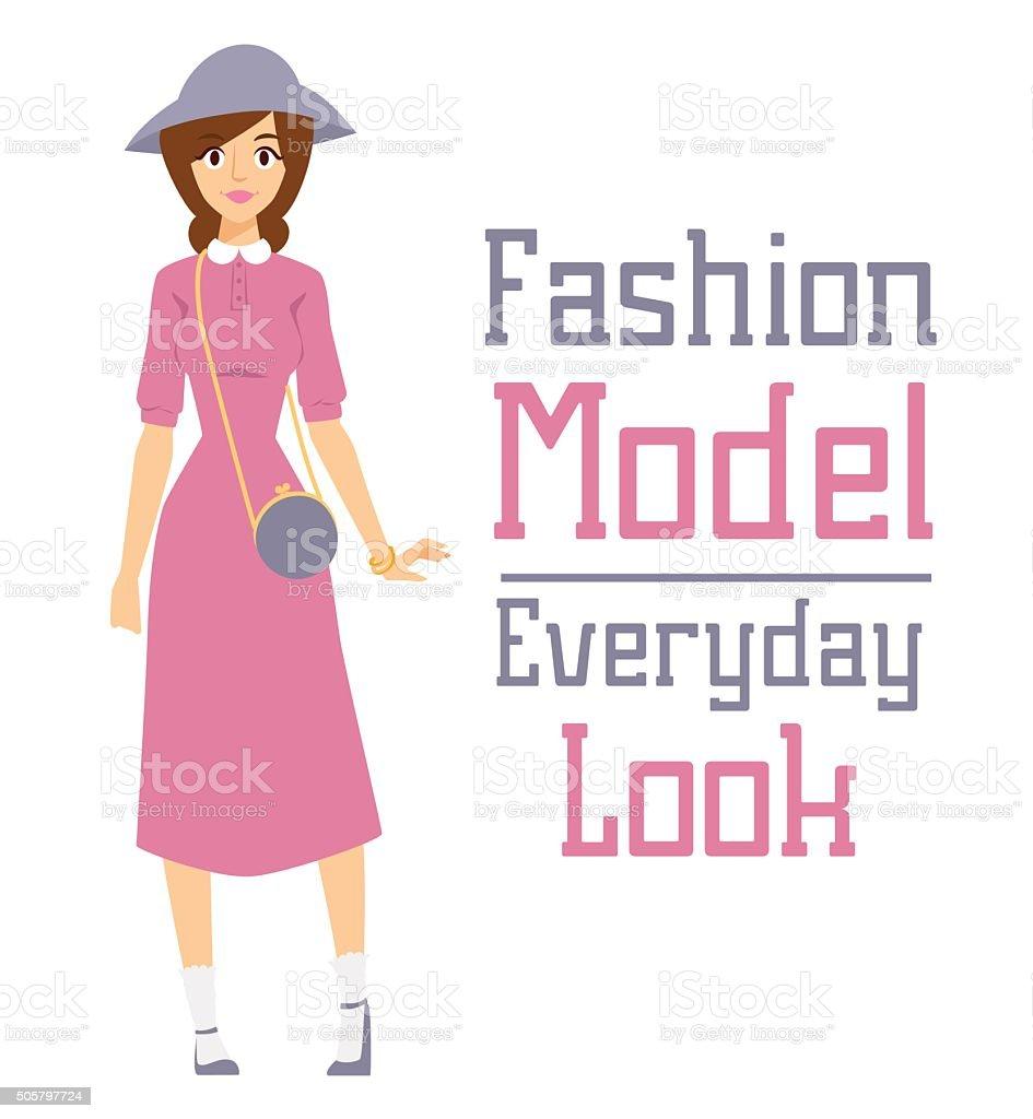 Ilustración de Vector De Dibujos Animados De Moda Hermosa Chica ...