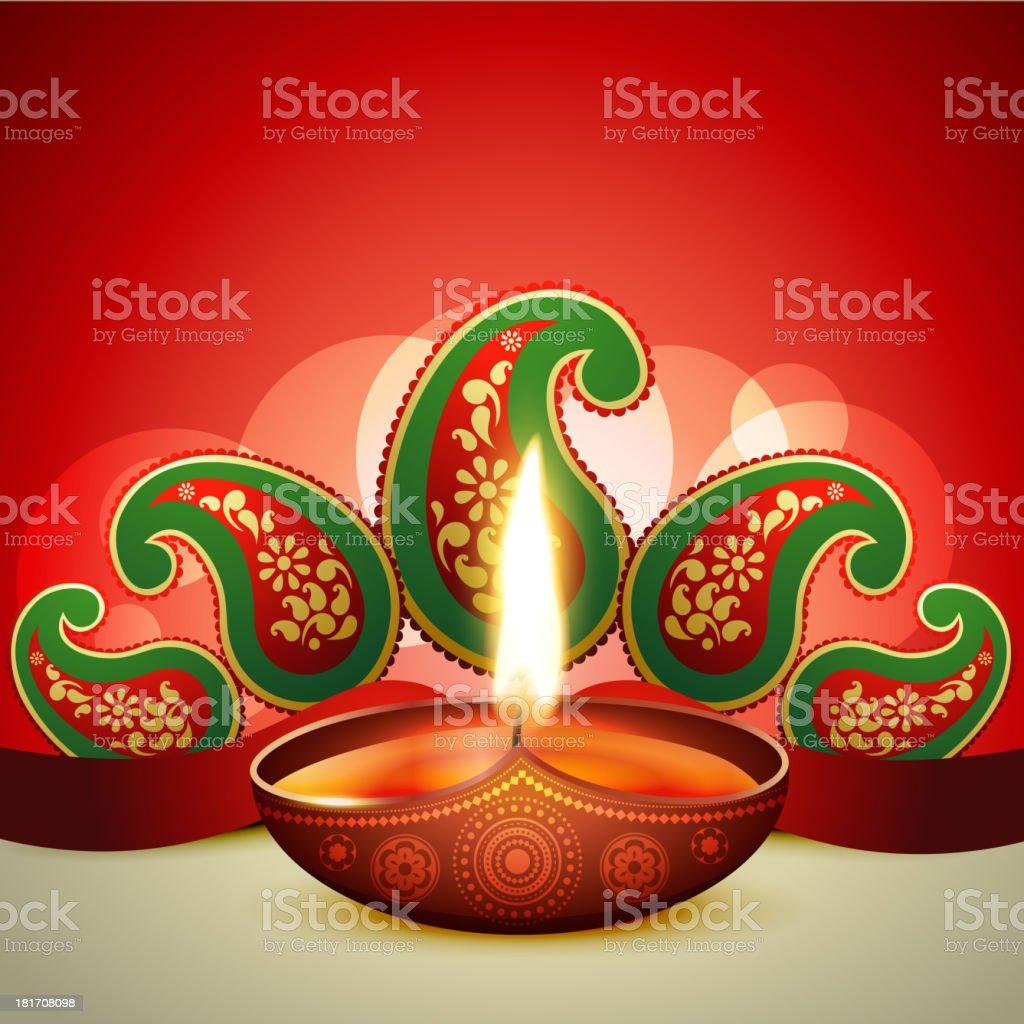 beautiful vector diwali diya royalty-free stock vector art