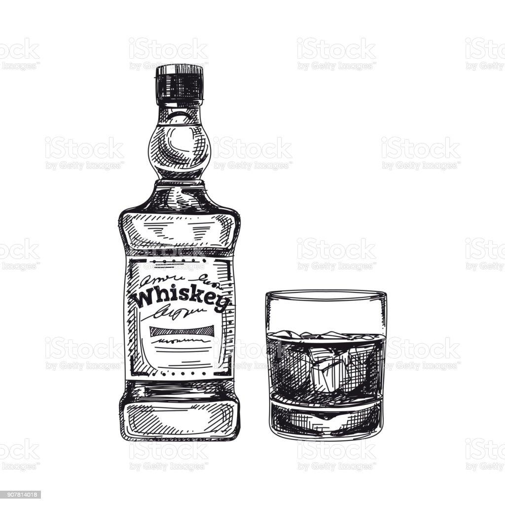 Beautiful vector hand drawn beverage Illustration. vector art illustration