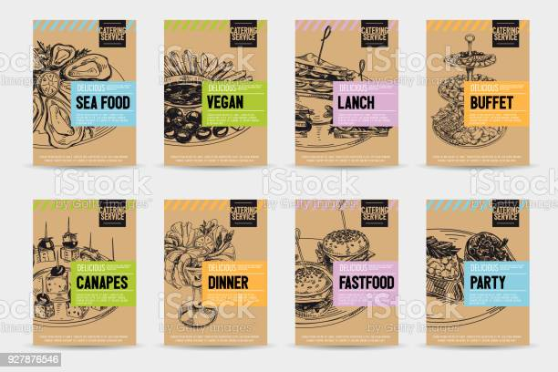 Beautiful vector hand drawn catering servise food card set vector id927876546?b=1&k=6&m=927876546&s=612x612&h=c5l ma4l372a 3teo7ube8 kq05clhrf heljeznbsu=