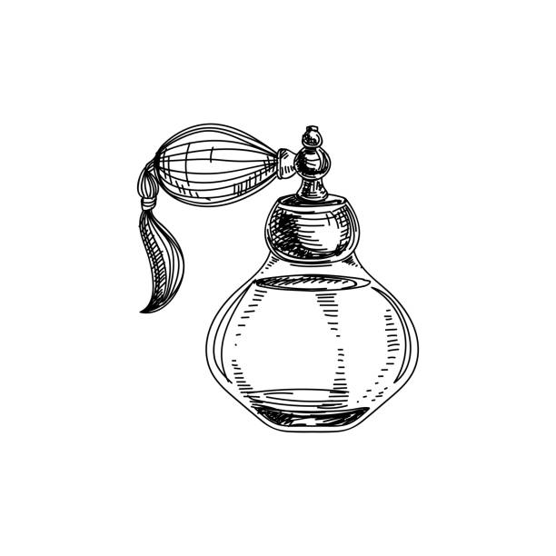 royalty free old perfume bottle drawing clip art vector images