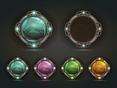 Beautiful vector magic shiny round buttons