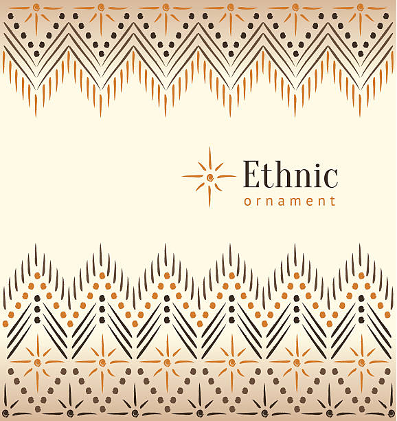 Beautiful vintage ethnic ornament background Eps 10 vector illustration. indigenous peoples of the americas stock illustrations