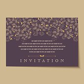 Beautiful vintage invitation cards Layouts