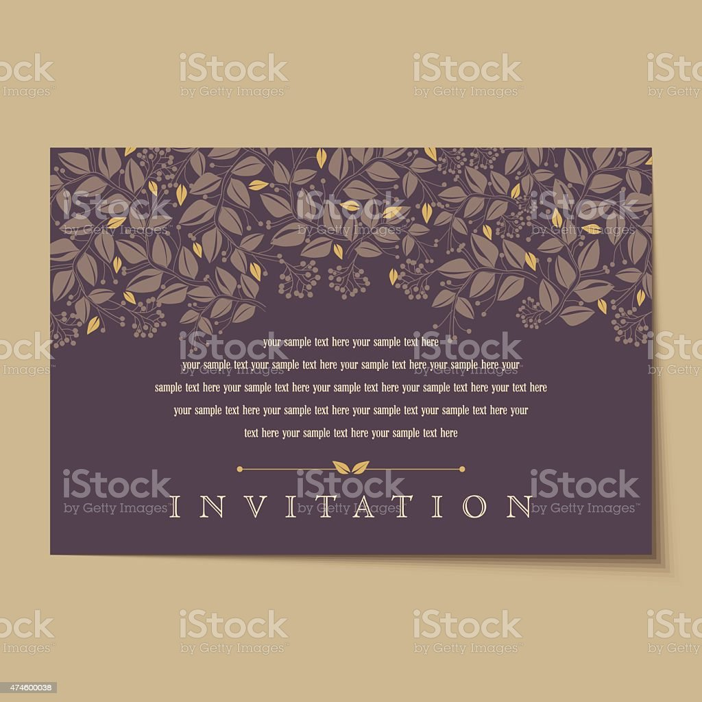 vintage cartes d'invitation aménagements - Illustration vectorielle