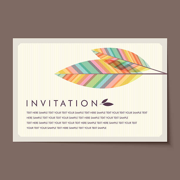 ilustrações, clipart, desenhos animados e ícones de lindo vintage cartões de convite de layouts. - viagem de primeira classe