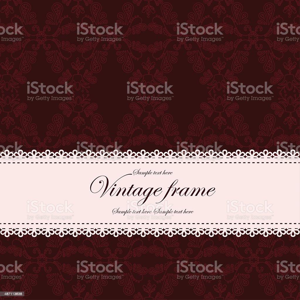 Beautiful vintage pattern vector art illustration