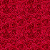 beautiful vintage seamless pattern with red roses buds. design greeting card and invitation of the wedding, birthday, Valentine's Day, mother's day and other holiday.