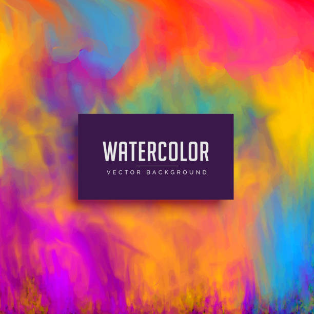 beautiful watercolor background with flowing ink effect - watercolor background stock illustrations, clip art, cartoons, & icons