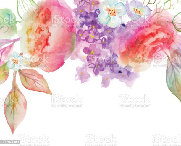 Beautiful watercolor flowers vector id677971154?b=1&k=6&m=677971154&s=612x612&h=8a kisyhssmonq 9zdtcvmaea29ypujq4vw 86h4hue=