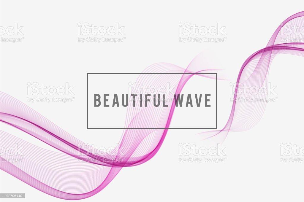 Beautiful wave  Background vector art illustration