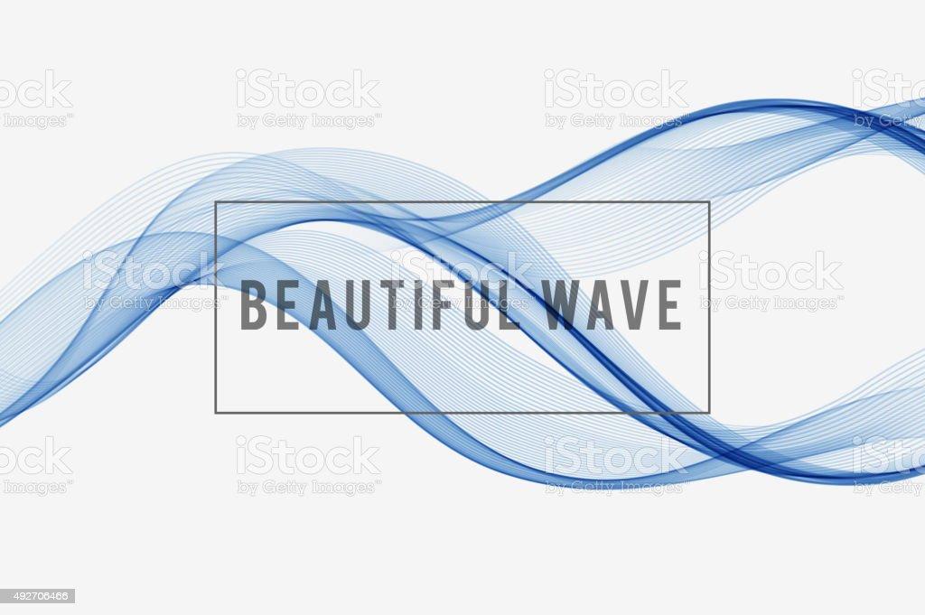 Wunderschöne wave Hintergrund – Vektorgrafik