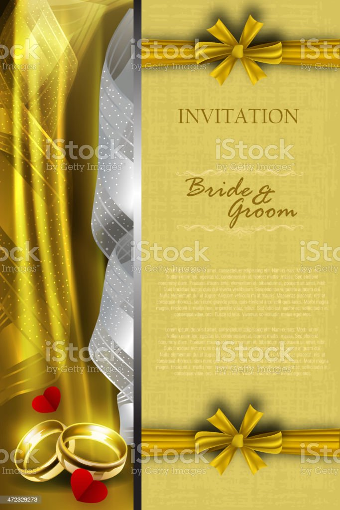 Beautiful Wedding Invitation Card royalty-free beautiful wedding invitation card stock vector art & more images of backgrounds