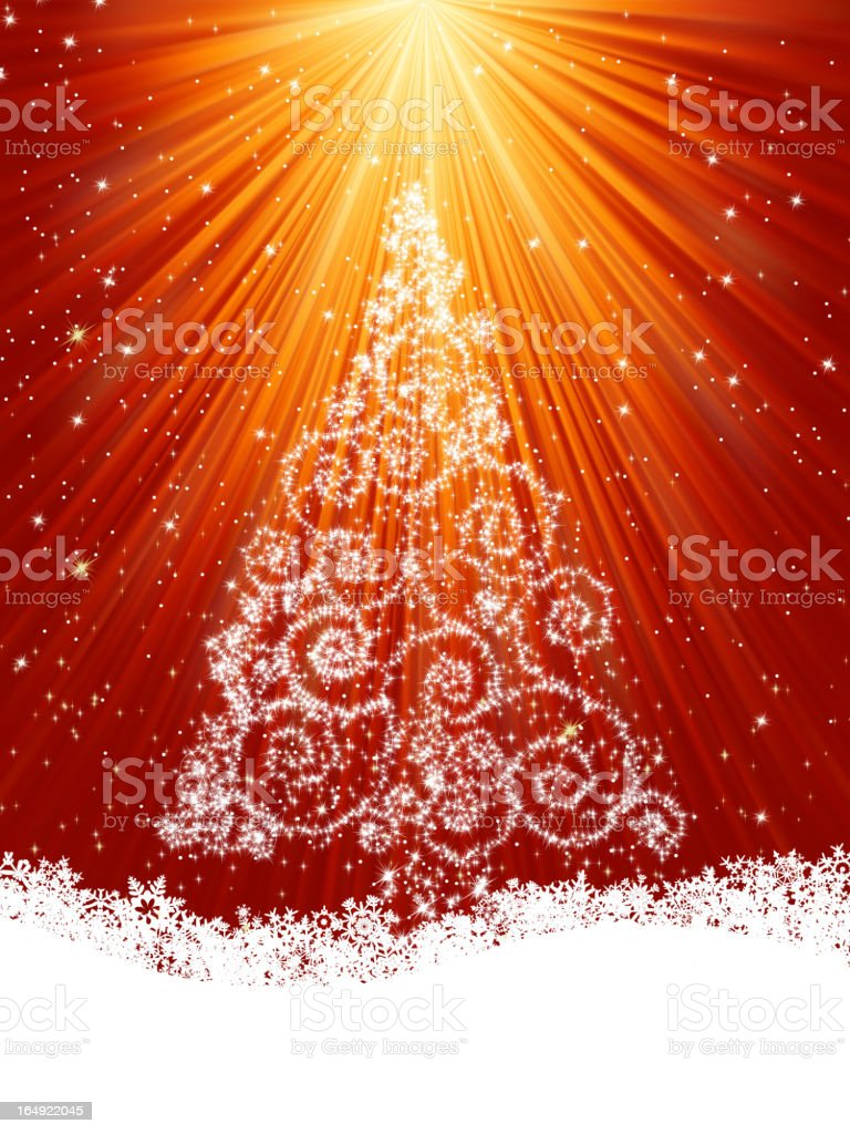 Beautiful winter card with tree. EPS 8 royalty-free beautiful winter card with tree eps 8 stock vector art & more images of abstract