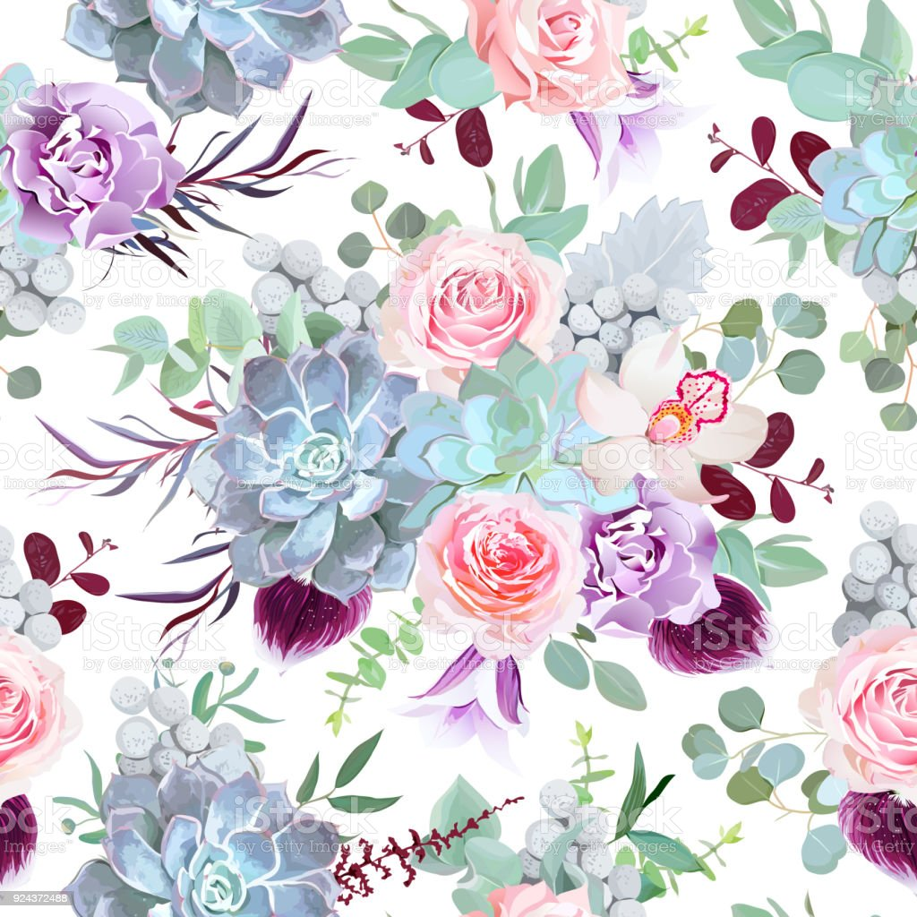 Beautiful Winter Sesonal Floral Print