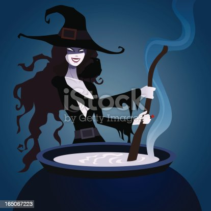 istock Beautiful Witch 165067223