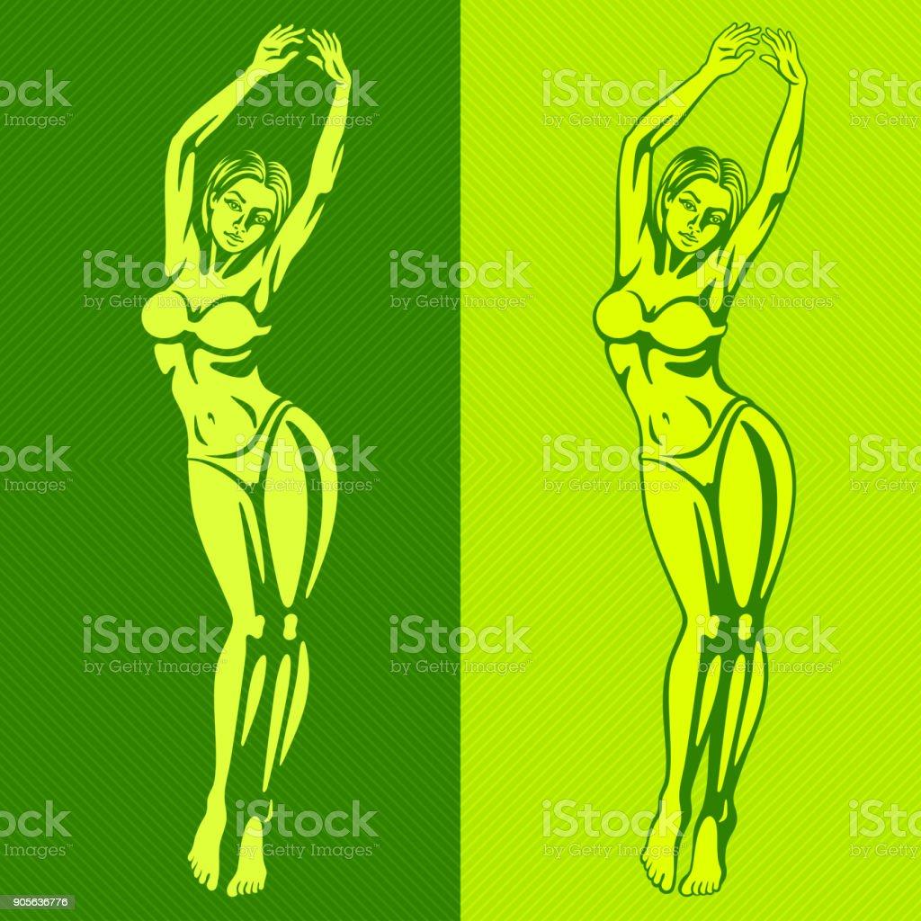 Beautiful Woman Body vector art illustration